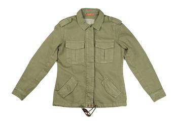 Jacket of khaki color, isolate