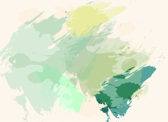 Green gradient abstract watercolor style background