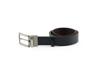 Black leather belt White background