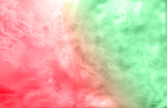 Red and Green double color burst. Dynamic colorful abstract background. Graphic element for print and design.