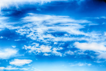 view of the cloudy fluffy sky like paradise