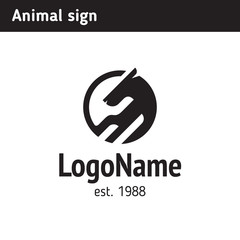 Abstract animal logo