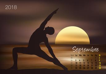 CALENDRIER - 2018 - Yoga - Zen - Septembre