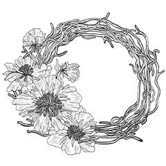Flower wreath. Flowering plant.