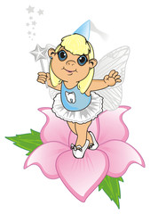 Fairy, wings, magic, fantasy, little, cartoon, girl,  magic, butterfly, Fairy tale, symbol, teeth, tooth fairy, wand, stand, flower