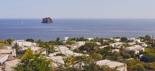 Aeolian Islands - Strombolicchio (Sicilian, small Stromboli) is a small volcanic island of the Aeolian Islands - Sicily - Italy