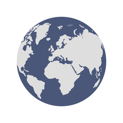 Two color globe. Simple design with easy to select by color areas