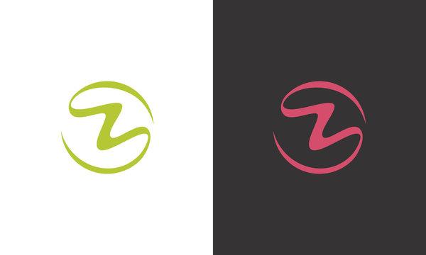 circle ribbon letter Z logo