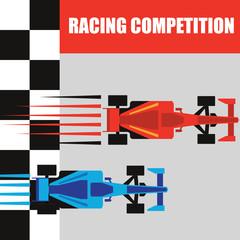 formula one / grand prix racing poster. vector illustration