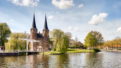 Delft, Oostpoort, ponte levatoio e canale