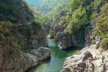 View on the beautiful river Ardeche