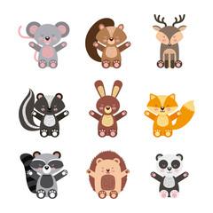 icons set cute animals icon vector illustration design graphic