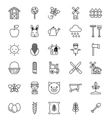 icons set object animal vector illustration design graphic