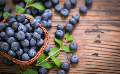 Blueberries in the basket