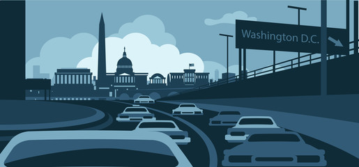 Wall Mural - Washington DC Skyline