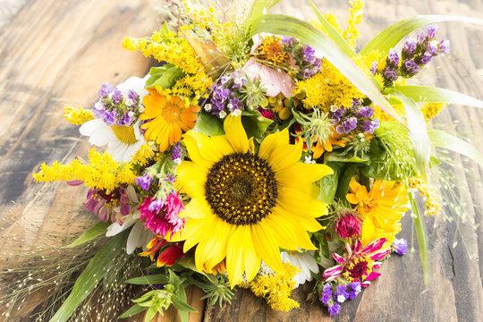 Fresh Bouquet of Summer Flowers