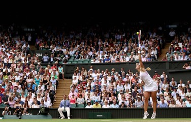 Women's Singles - Germany's Angelique Kerber in action during her semi final match