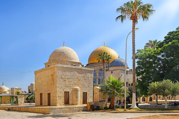 islamic religious buildings at Temple Mount, Old City of Jerusalem, Israel