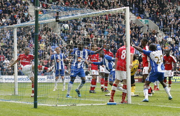 Wigan Athletic v Arsenal Barclays Premier League