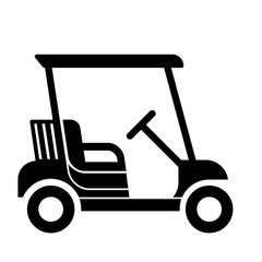 Nice golf cart icon Flat vector design isolated on white background
