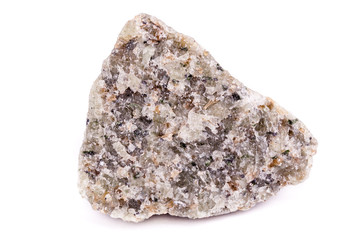 Macro mineral stone Olivine on white background