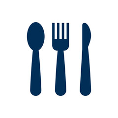 Isolated Cutlery Icon Symbol On Clean Background. Vector Silverware Element In Trendy Style.