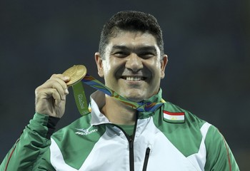 Athletics - Men's Hammer Throw Victory Ceremony