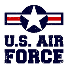 T-shirt print design U.S. Air Force