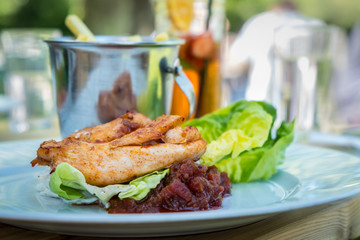 Chicken breast cooked in Piri Piri sauce