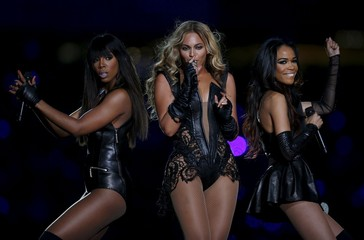 File photo of Beyonce and Destiny's Child perform during the half-time show of NFL Super Bowl XLVII football game in New Orleans