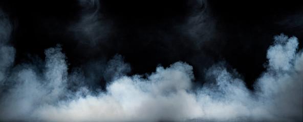 Garden Poster Smoke Image of a swirling dense fume
