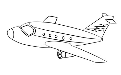 Air plane - Line Drawn Vector