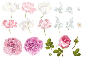 Flower elements set