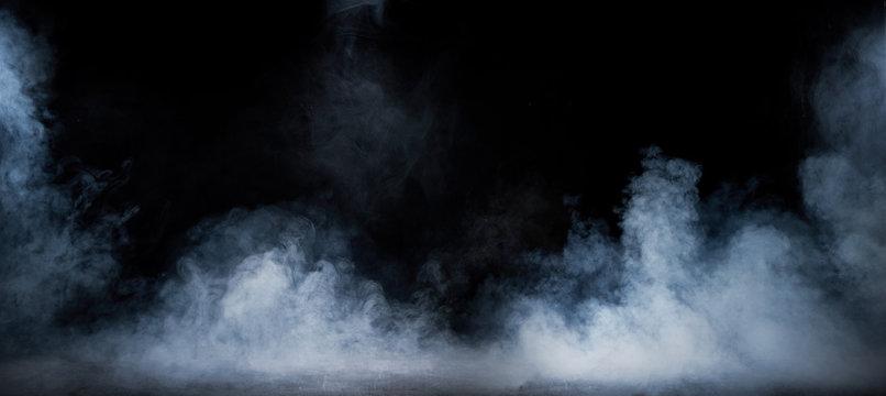 Image of dense fume swirling in the dark interior