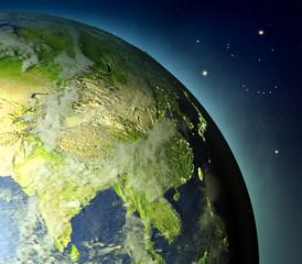 Southeast Asia from Earths orbit