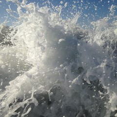 Wave crashing