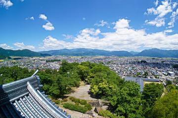 福井県越前大野城天守からの眺め