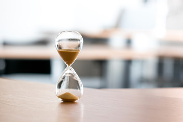 Sand clock, business time management concept