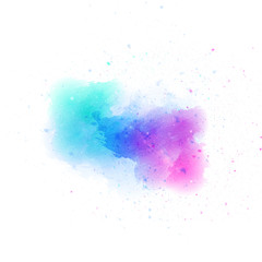 Vector realistic isolated watercolor stain for decoration and covering on the white background.