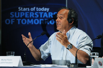 UEFA President Michel Platini during the press conference