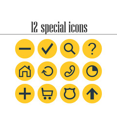 Vector Illustration Of 12 Member Icons. Editable Pack Of Stopwatch, Shield, Plus And Other Elements.