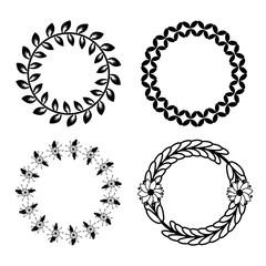 laurel set vector design