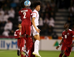 Football Soccer - Qatar U23 v South Korea U23 - AFC U23- Championship Semi Final Äì Doha,Qatar
