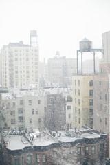 Snowy cityscape NYC
