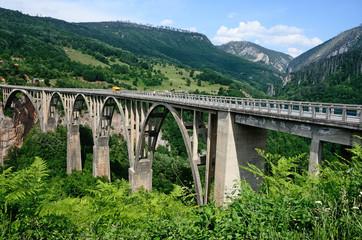 Виды Черногории, мост через реку Тара
