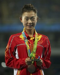 Athletics - Women's 20km Race Walk Victory Ceremony