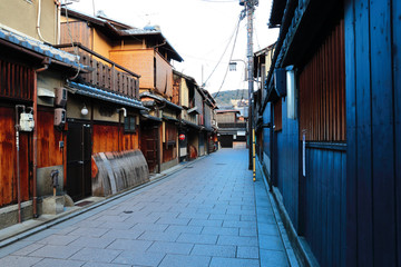 A old street in Kyoto, Japan.