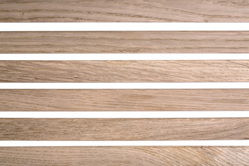Background and texture of wooden bars on a white background