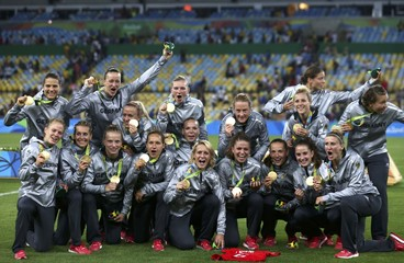 Football - Women's Tournament Victory Ceremony