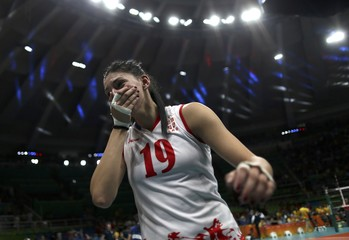 Volleyball - Women's Semifinals Serbia v USA